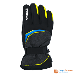 Перчатки горнолыжные REUSCH 2020-21 Primus R-Tex® XT Black Melange/Safety Yellow/Brilli 8""